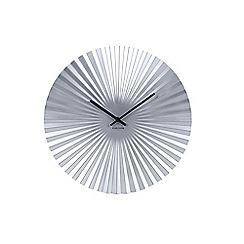 Karlsson - Silver sensu starburst wall clock
