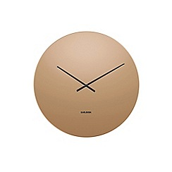 Karlsson - Brown 'Mirage' wall clock