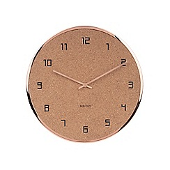 Karlsson - Brown cork wall clock