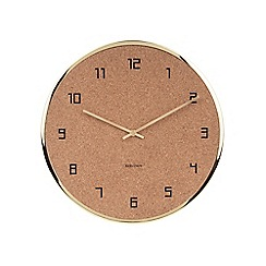 Karlsson - Gold cork wall clock
