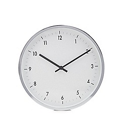 Debenhams - Grey glass and metal wall clock