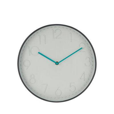 Home Collection   Grey Case Wall Clock by Home Collection