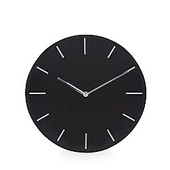 Debenhams - Black glass wall clock