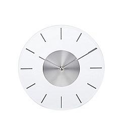 Debenhams - Silver wall clock