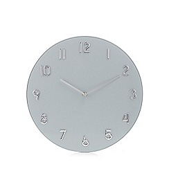 Debenhams - Silver glass wall clock