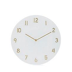 Debenhams - White glass wall clock
