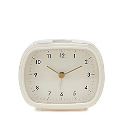 Debenhams - White retro alarm clock