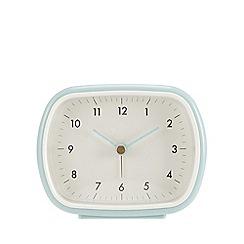 Debenhams - Light blue retro alarm clock