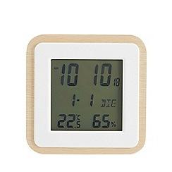 Debenhams - Natural wooden square clock