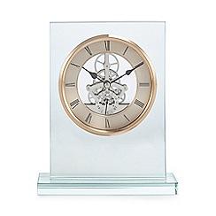 Debenhams - Rose gold skeleton mantel clock