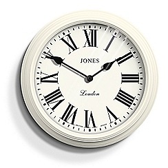 Jones - Large cream 'Savoy' oversized wall clock