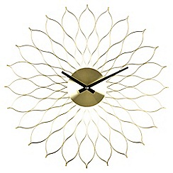 Acctim - 49cm brass 'Helios' wall clock