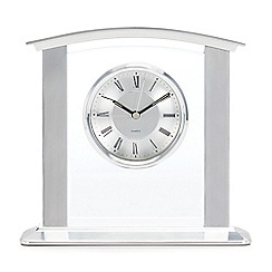 Debenhams - Silver 'Kensington' Mantel Clock