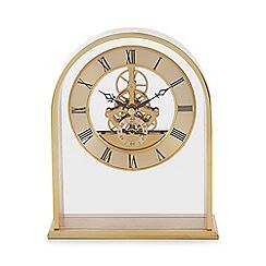 Debenhams - Gold 'Skeleton' Arch Mantel Clock