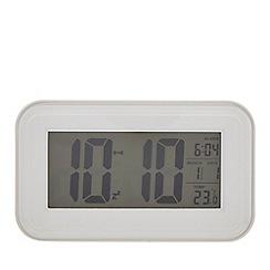 Debenhams - White digital alarm clock
