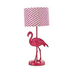 Butterfly Home by Matthew Williamson - Pink flamingo table lamp