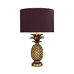 Butterfly Home by Matthew Williamson - Gold pineapple shaped table lamp