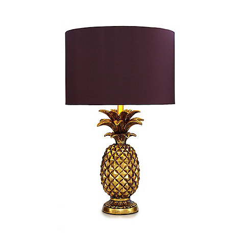 Butterfly home by matthew williamson gold pineapple shaped table lamp debenhams
