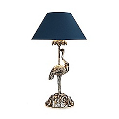 Butterfly Home by Matthew Williamson - Silver sea crane table lamp