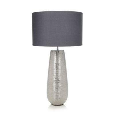 John rocha metal scratch effect table lamp