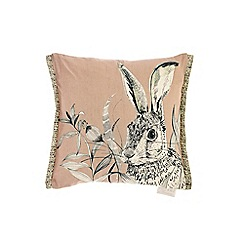 Voyage - Blush hare cushion