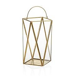 Yankee Candle - Large glass 'Simply Pastel' jar lantern