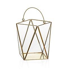 Yankee Candle - Medium glass 'Simply Pastel' jar lantern