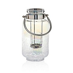 Yankee Candle - Glass 'Pearlescent Crackle' votive jar lantern