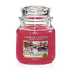 Yankee Candle - Small 'Frosty Gingerbread' scented jar candle