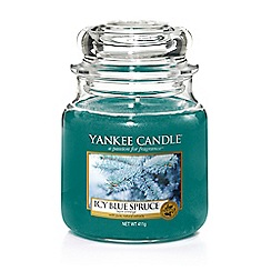 Yankee Candle - Medium 'Icy Blue Spruce' Scented Jar Candle