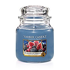 Yankee Candle - Medium Purple Mulberry and Fig Delight Scented Jar Candle