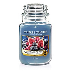 Yankee Candle - Large 'Mulberry and Fig Delight' Scented Jar Candle