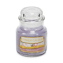 Yankee Candle - Small Sweet Morning Rose Scented Candle