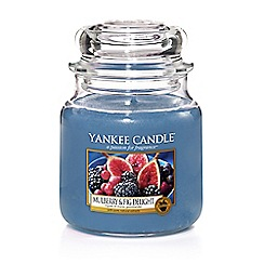 Yankee Candle - Mulberry and fig delight medium jar scented candle