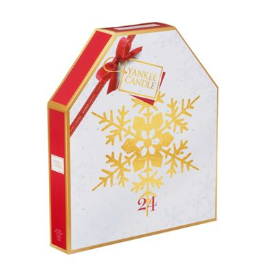 yankee candle gold snowflake scented tea light advent. Black Bedroom Furniture Sets. Home Design Ideas