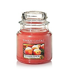 Yankee Candle - Medium classic 'Summer Peach' scented jar candle