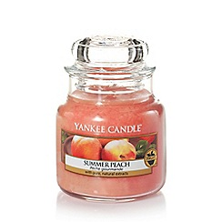 Yankee Candle - Small classic 'Summer Peach' scented jar candle