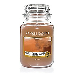 Yankee Candle - Large classic 'Warm Desert Wind' scented jar candle