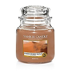 Yankee Candle - Medium classic 'Warm Desert Wind' scented jar candle