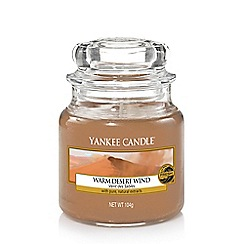 Yankee Candle - Small classic 'Warm Desert Wind' scented jar candle