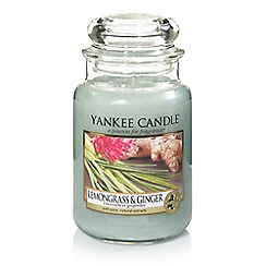 Yankee Candle - Large classic 'Lemongrass and Ginger' scented jar candle