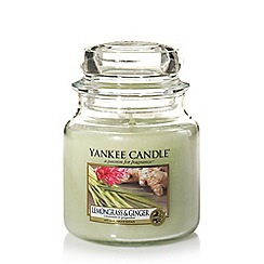 Yankee Candle - Medium classic 'Lemongrass and Ginger' scented jar candle