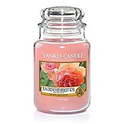 Yankee Candle - Large classic 'Sun Drenched Apricot Rose' scented jar candle