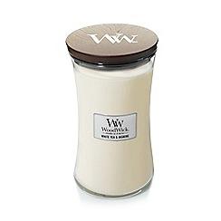WoodWick - White tea and jasmine large jar candle