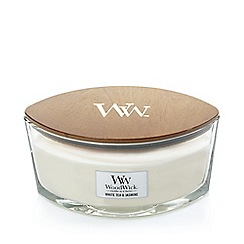 WoodWick - White tea and jasmine hearthwick jar candle