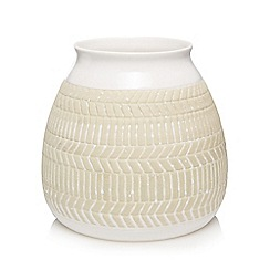 Kaemingk - White embossed vase