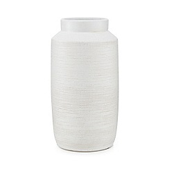 Kaemingk - White ceramic vase