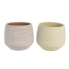 Kaemingk - Multi-coloured ceramic pot