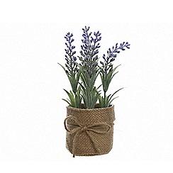 Kaemingk - Jute pot with artificial lavender