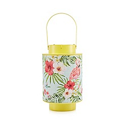 Kaemingk - Multi-coloured tropical print lantern